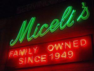 Miceli's Neon Sign